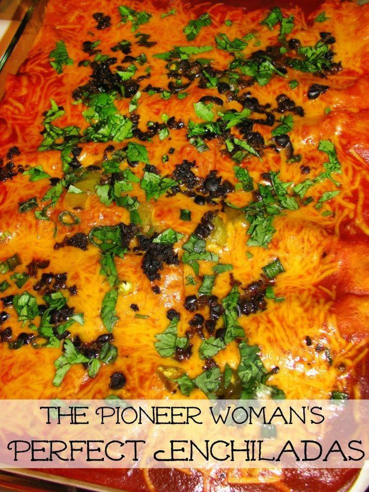 Freezer Enchiladas Pioneer Woman  Pioneer Woman Perfect Enchiladas Hot and bubbly and