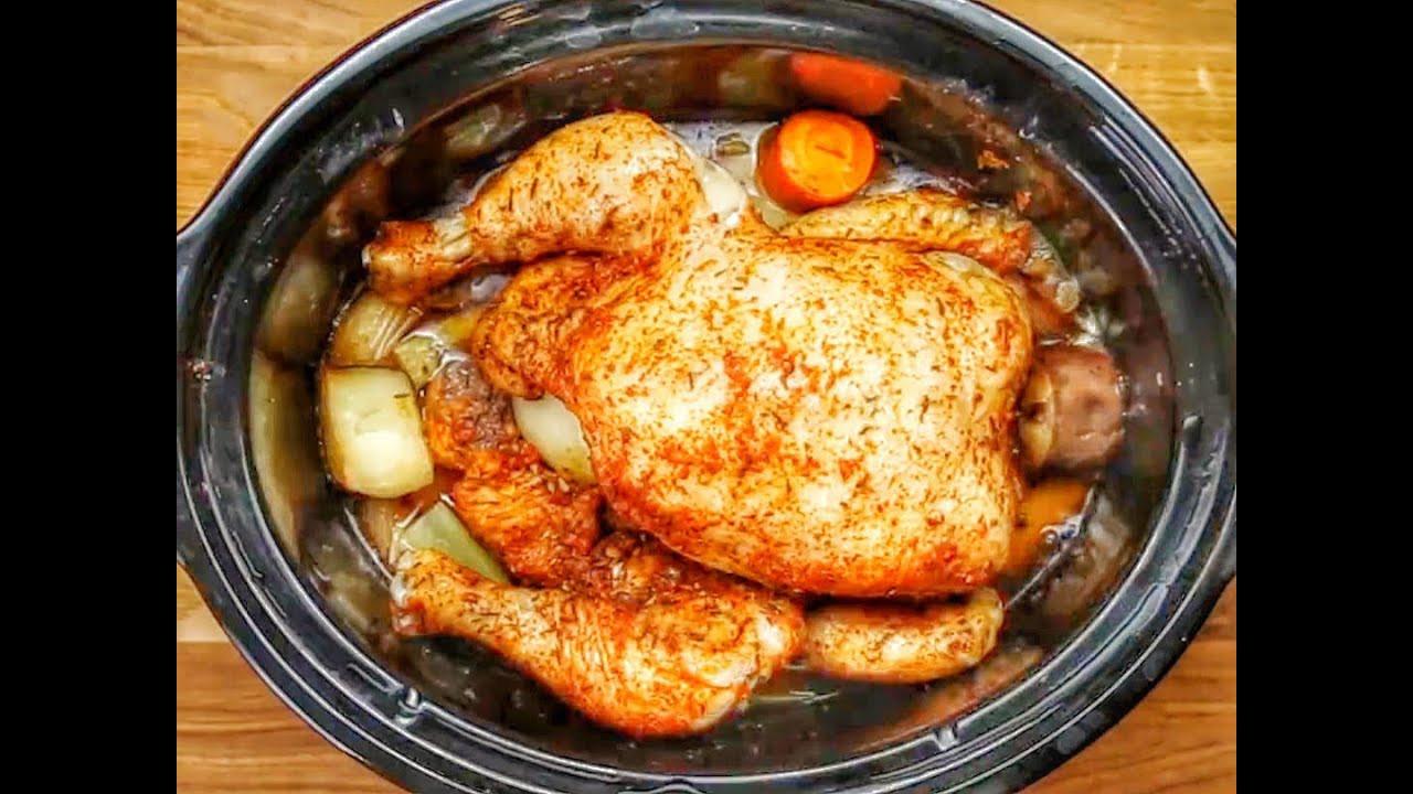 Frozen Whole Chicken In Slow Cooker  slow cooker whole chicken frozen