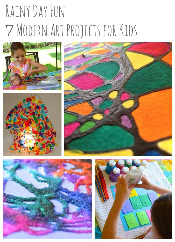 Fun Art Activities For Kids  Rainy Day Fun 7 Modern Art Projects for Kids Inner