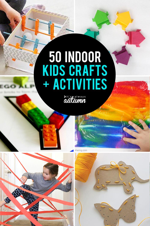 Fun Art Activities For Kids  50 best indoor activities for kids It s Always Autumn