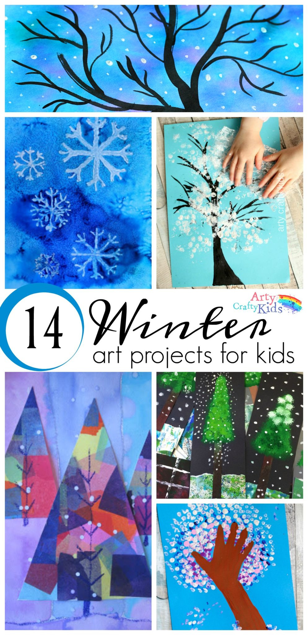 Fun Art Activities For Kids  14 Wonderful Winter Art Projects for Kids