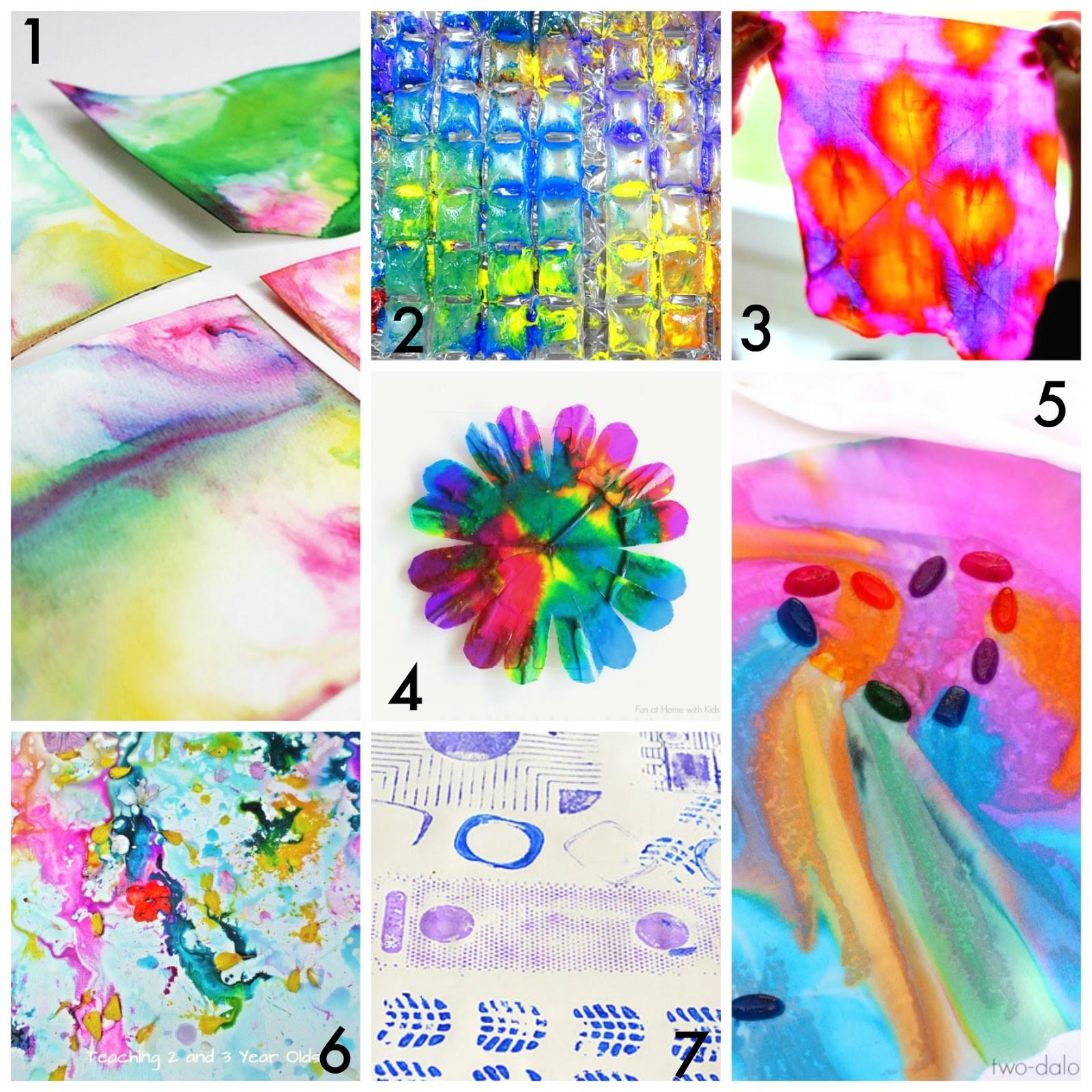 Fun Art Activities For Kids  50 Easy Process Art Activities for Kids