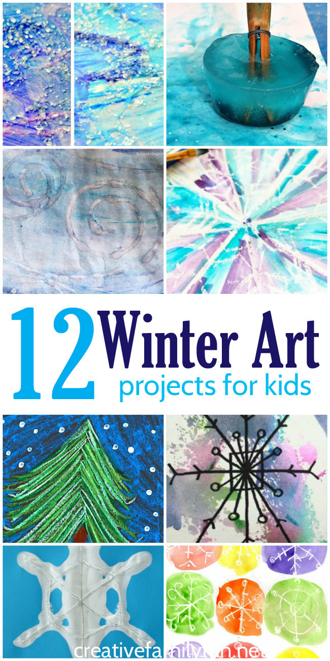 Fun Art Activities For Kids  Creative Family Fun 12 of the Best Winter Art Projects