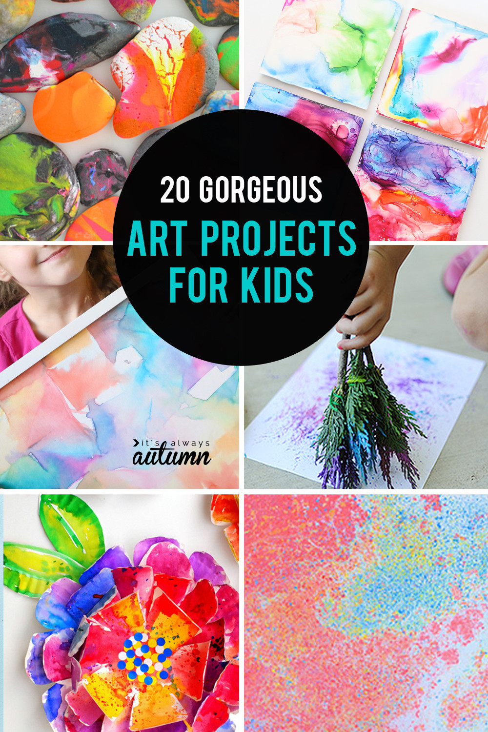 Fun Art Activities For Kids  20 kid art projects pretty enough to frame It s Always