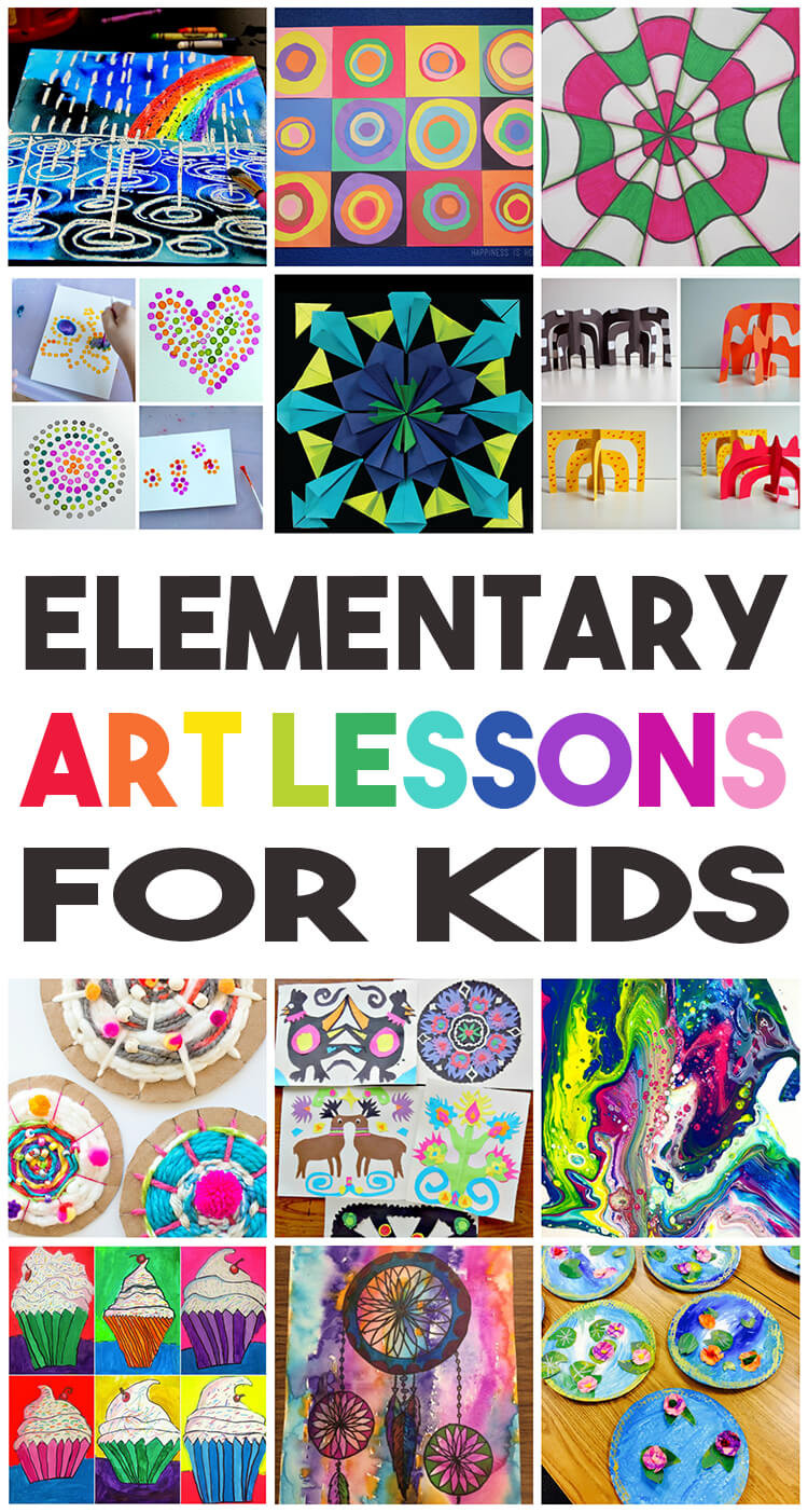 Fun Art Activities For Kids  36 Elementary Art Lessons for Kids Happiness is Homemade