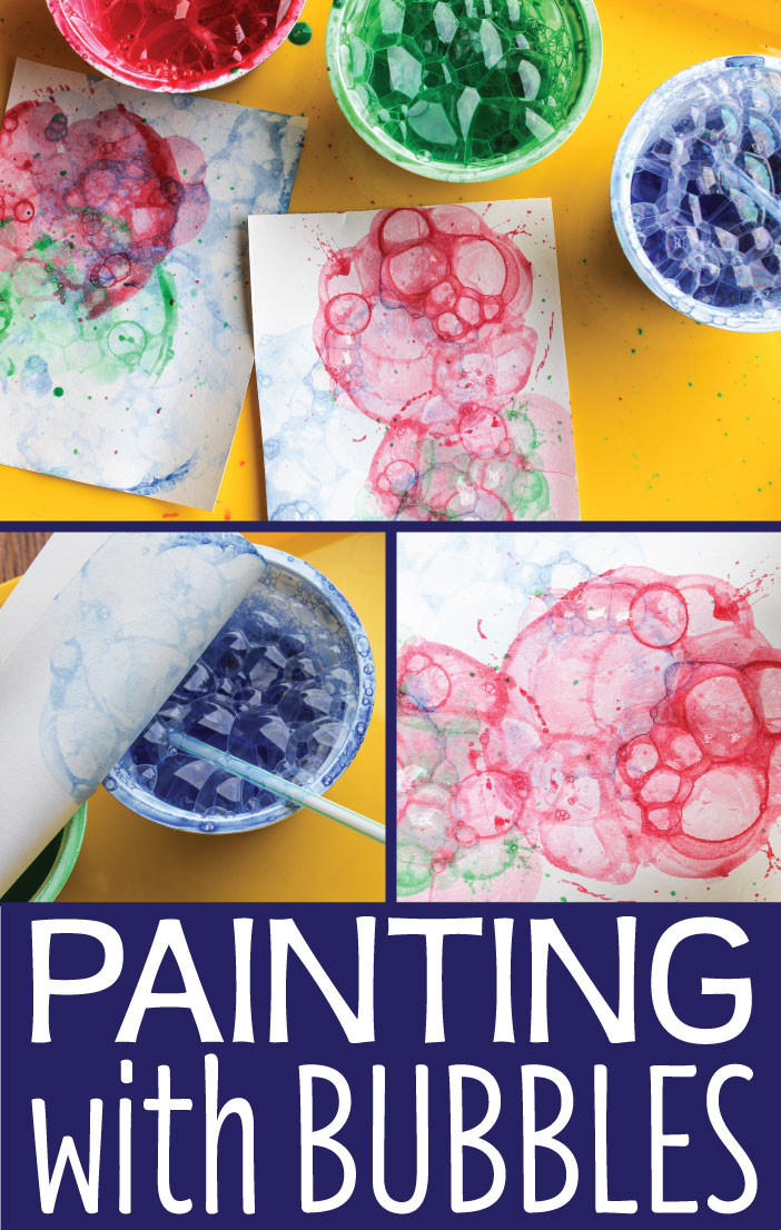 Fun Art Activities For Kids  Art Activities for Kids Painting with Bubbles Early