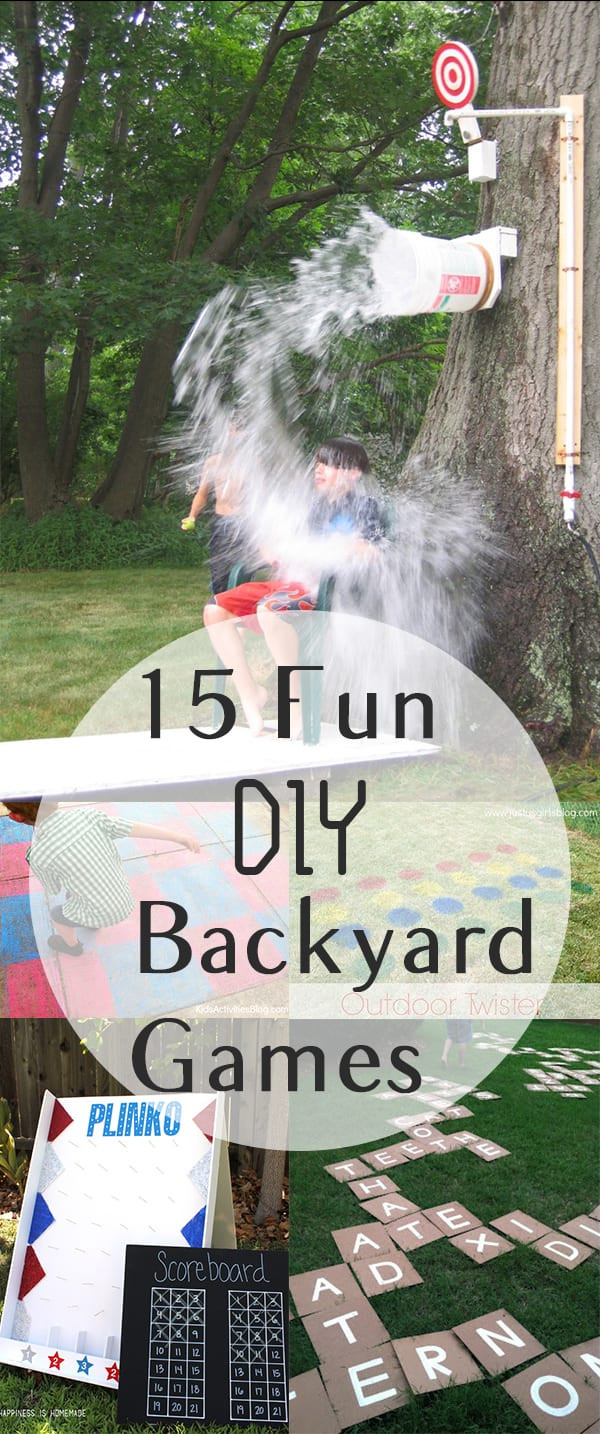 Funny Backyard Games  15 Fun DIY Backyard Games