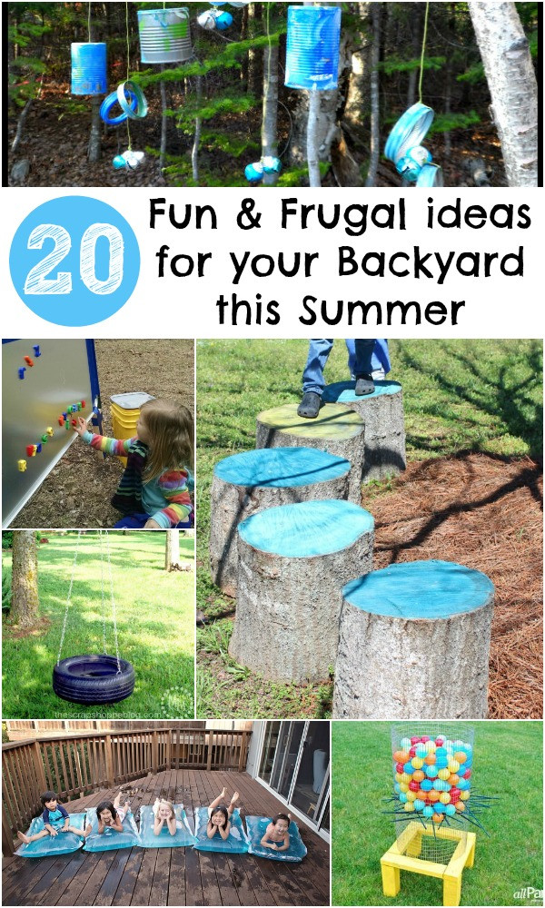 Funny Backyard Games  20 Fun and Frugal ideas for your Backyard this Summer In