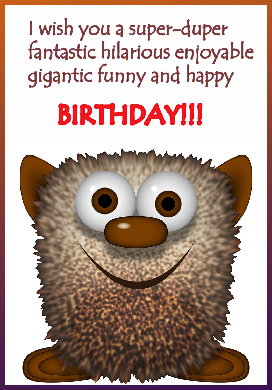Funny Birthday Cards To Print  Funny Printable Birthday Cards