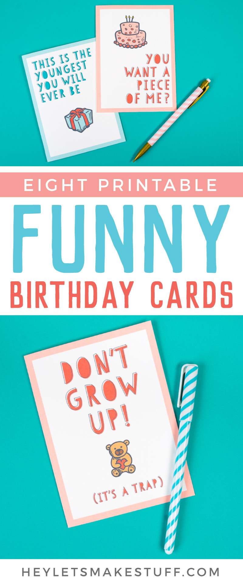 Funny Birthday Cards To Print  Free Funny Printable Birthday Cards for Adults Eight
