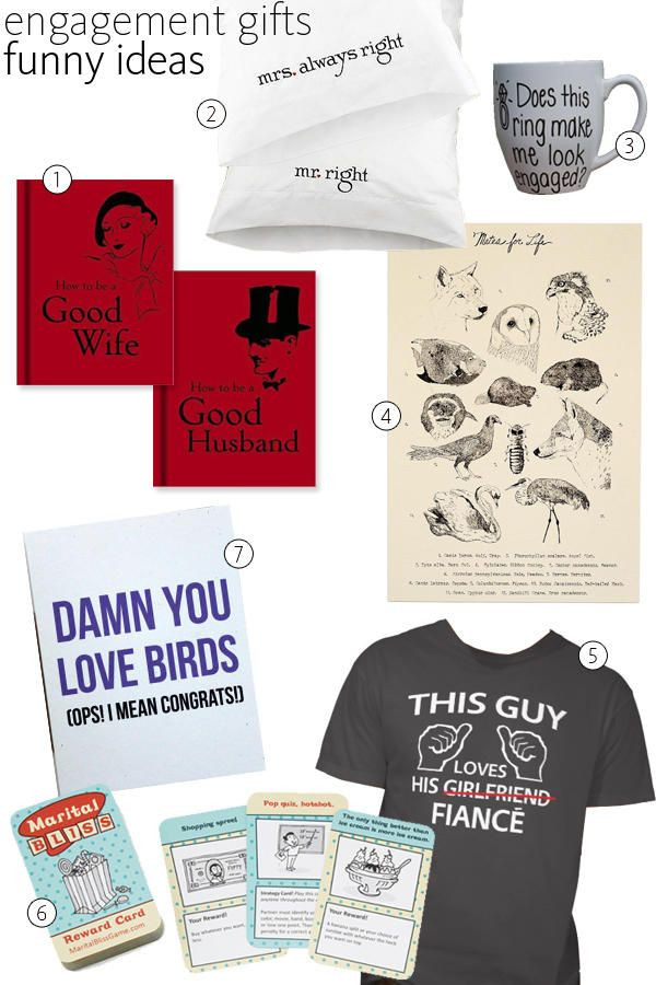 Funny Couples Gift Ideas  59 Great Engagement Gift Ideas for the Happy Couple