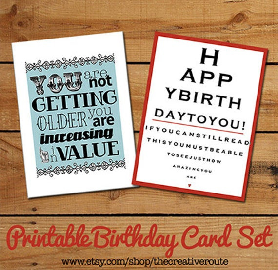 Funny Homemade Birthday Card Ideas  Items similar to Printable Birthday Cards Funny Birthday
