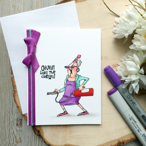 Funny Homemade Birthday Card Ideas  Funny Birthday Card Happy Birthday Humorous Birthday Card