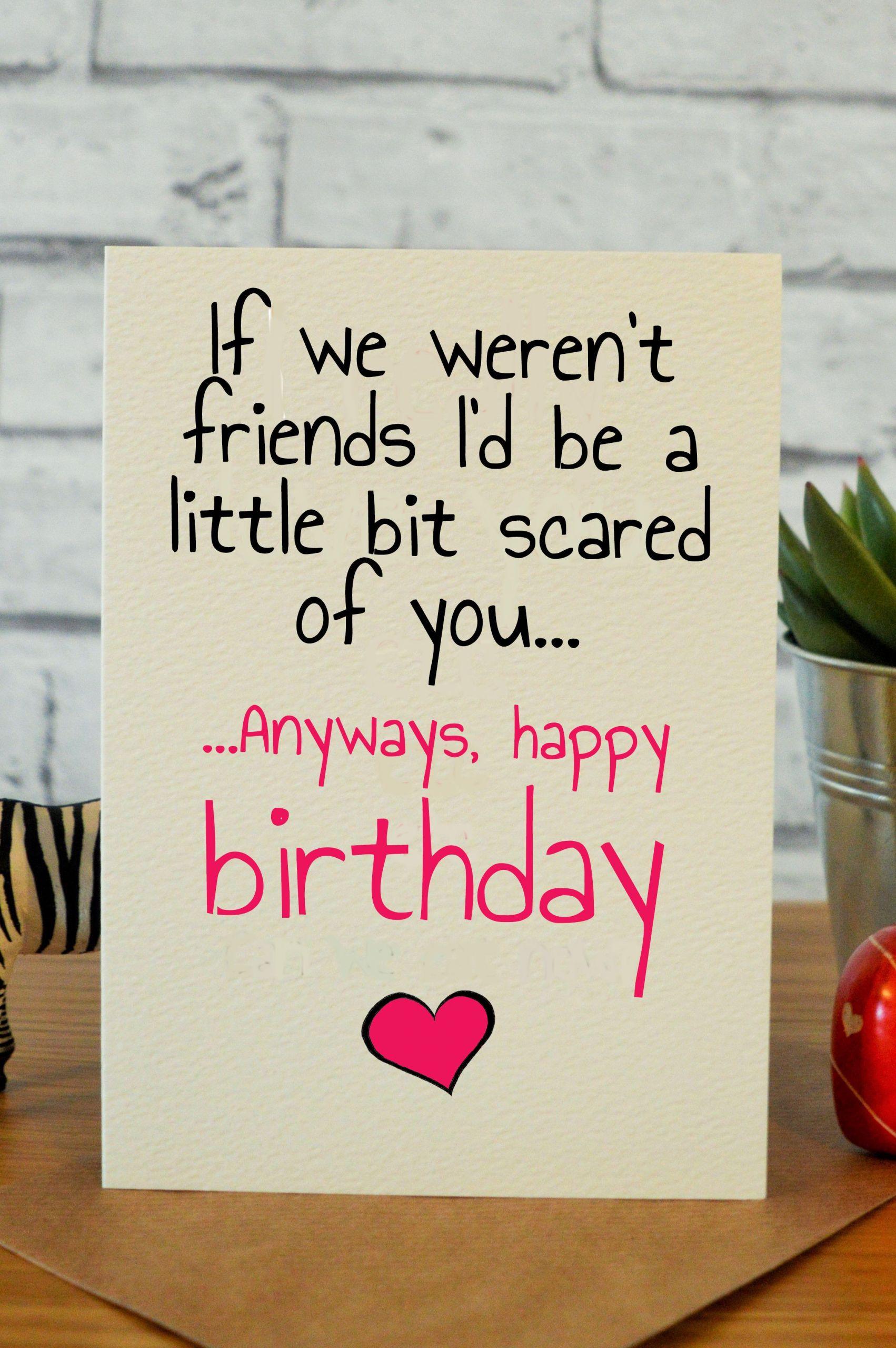Funny Homemade Birthday Card Ideas  Bit Scared
