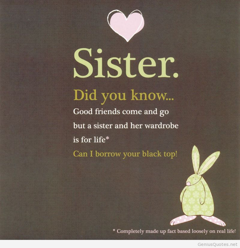 Funny Sister Birthday Wishes  BIRTHDAY QUOTES FOR SISTER FUNNY image quotes at relatably