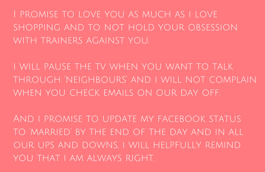 Funny Wedding Vows  Funny Wedding Vows Make Your Guests Happy cry