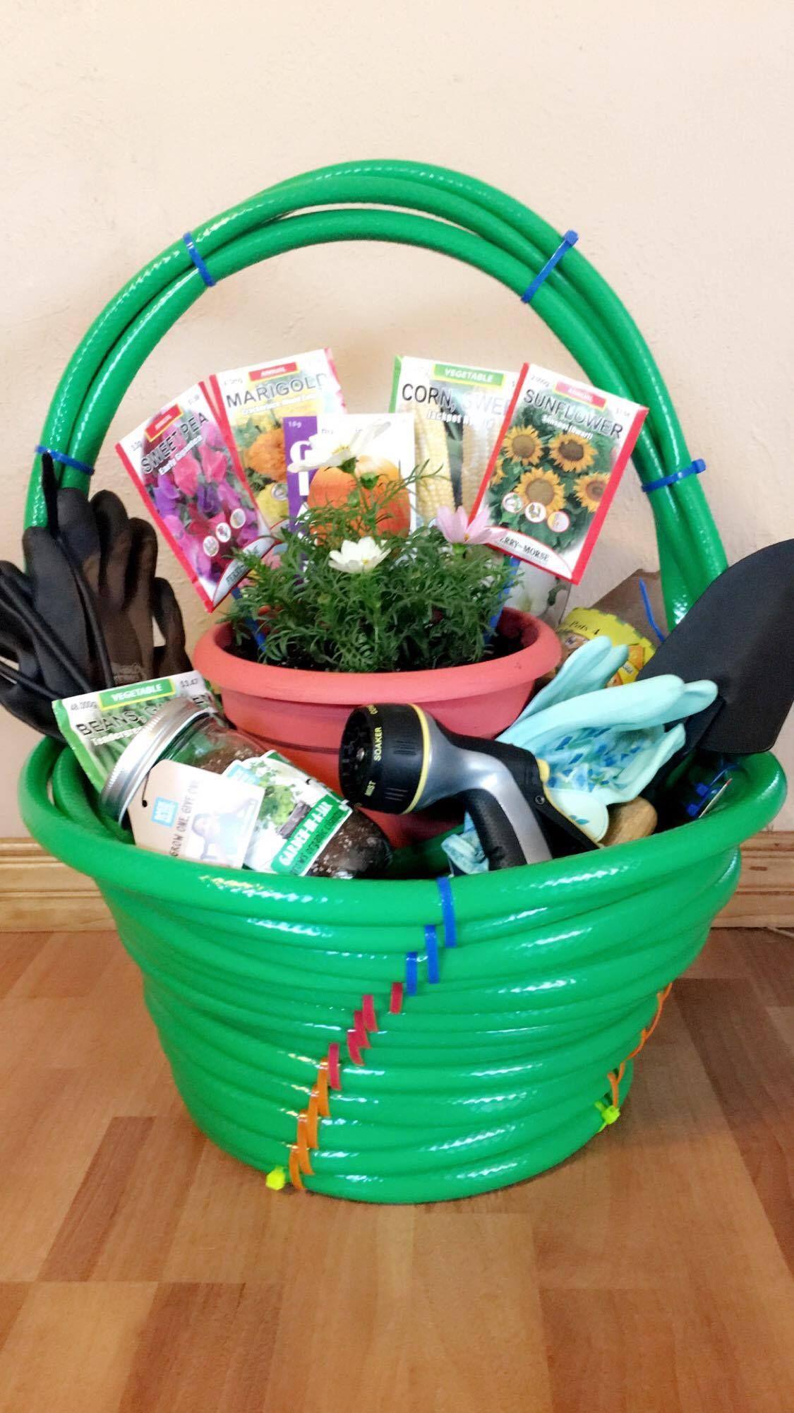 Garden Themed Gift Basket Ideas  Garden themed silent auction basket