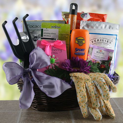 Garden Themed Gift Basket Ideas  Garden Party Gardening Gift Basket With images