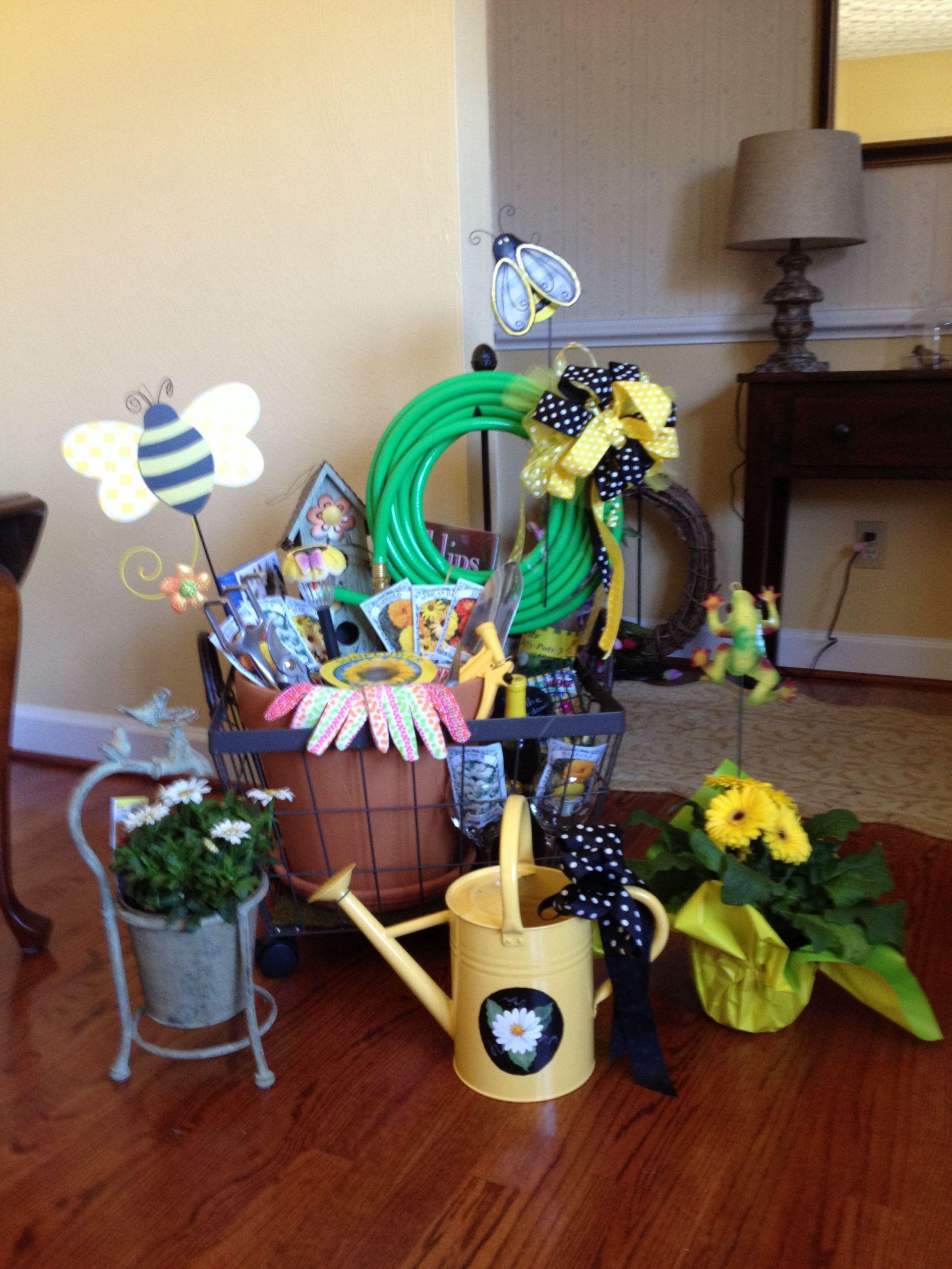 Garden Themed Gift Basket Ideas  Garden raffle basket for a fashion shiw