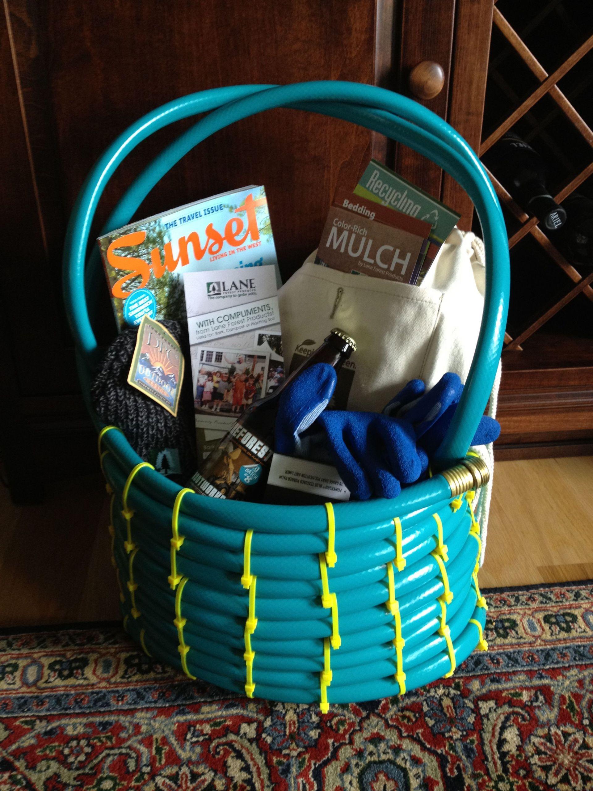 Garden Themed Gift Basket Ideas  Garden Hose Gift Basket Great idea from Proven Winners
