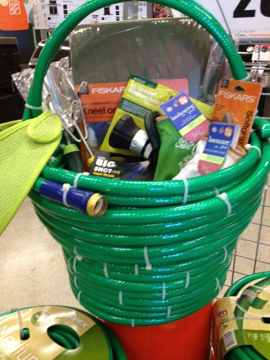 Garden Themed Gift Basket Ideas  I made one of these for a fund raiser July 2013