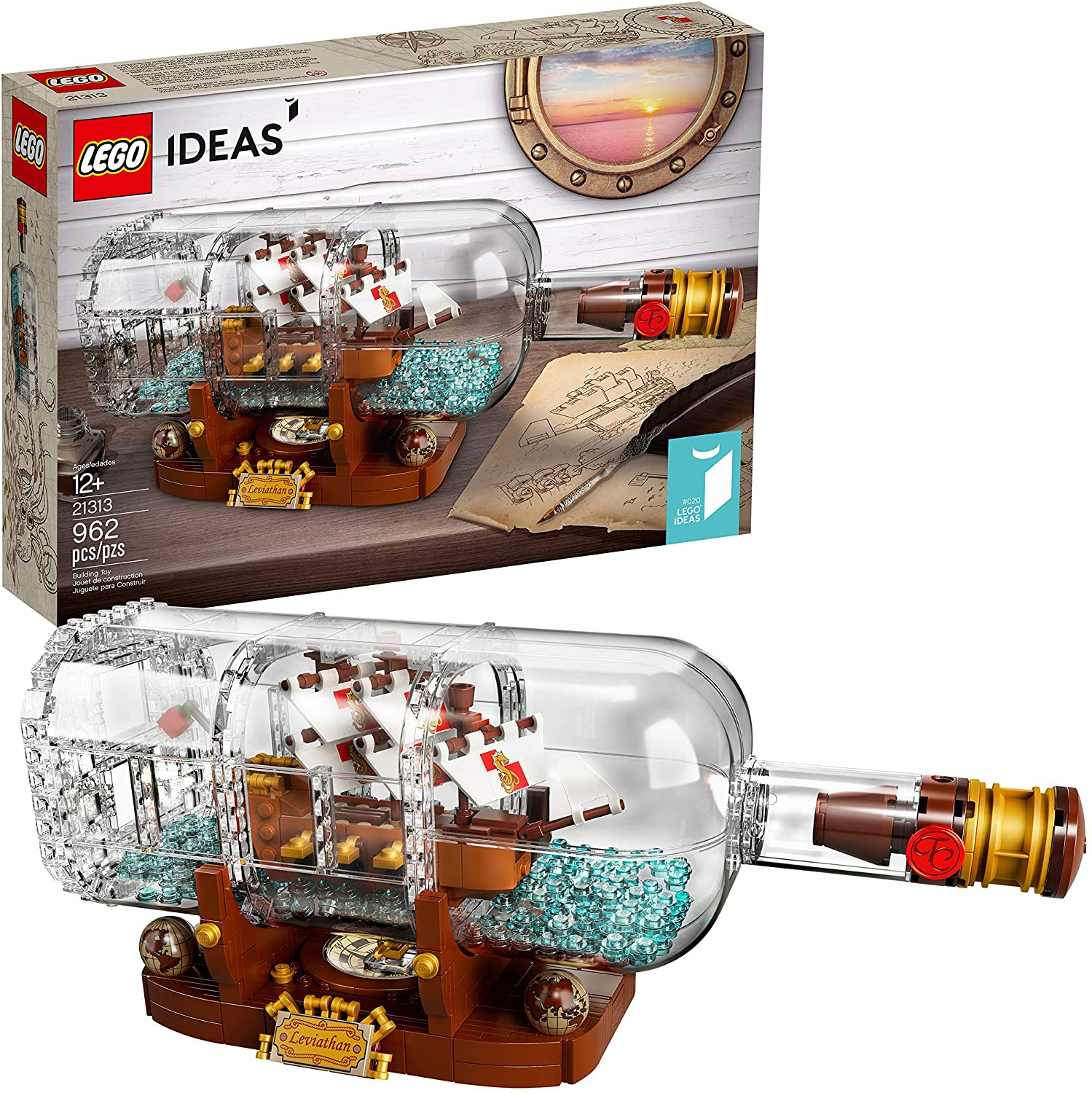 Geek Gifts For Kids  Lego Ship in a Bottle Geek Gifts for Kids