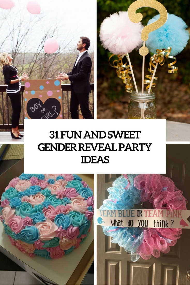 Gender Reveal Ideas For Party  31 Fun And Sweet Gender Reveal Party Ideas Shelterness