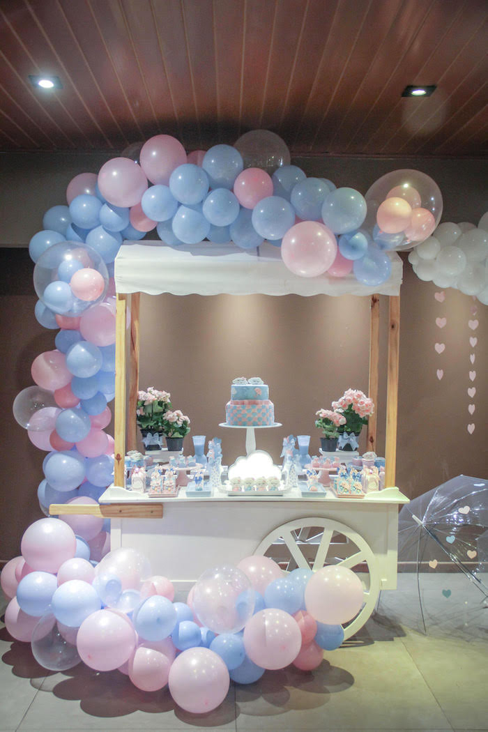 Gender Reveal Ideas For Party  Kara s Party Ideas Raindrop Themed Gender Reveal Party