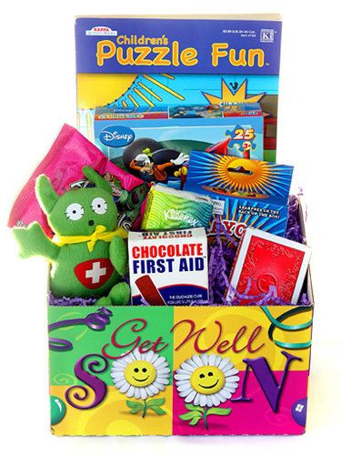 Get Well Soon Gifts For Kids  well soon t basket