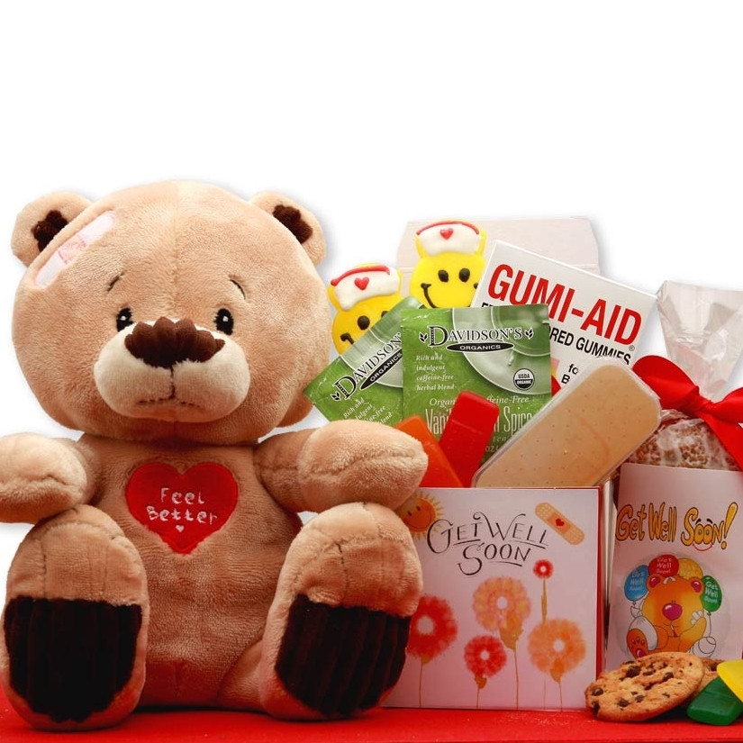 Get Well Soon Gifts For Kids  Get Well Soon Teddy Bear Gift Set