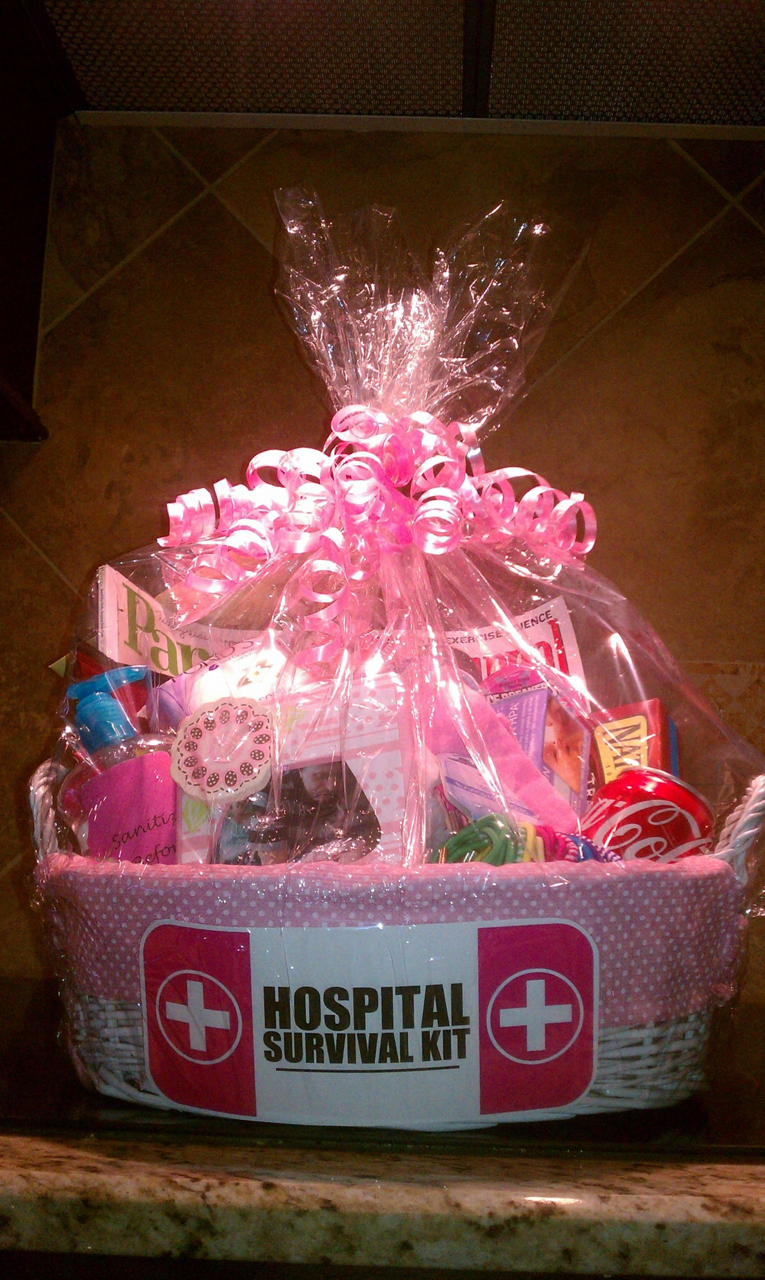 Gift Basket For Child In Hospital  Hospital Survival Kit Got the idea here on Pinterest