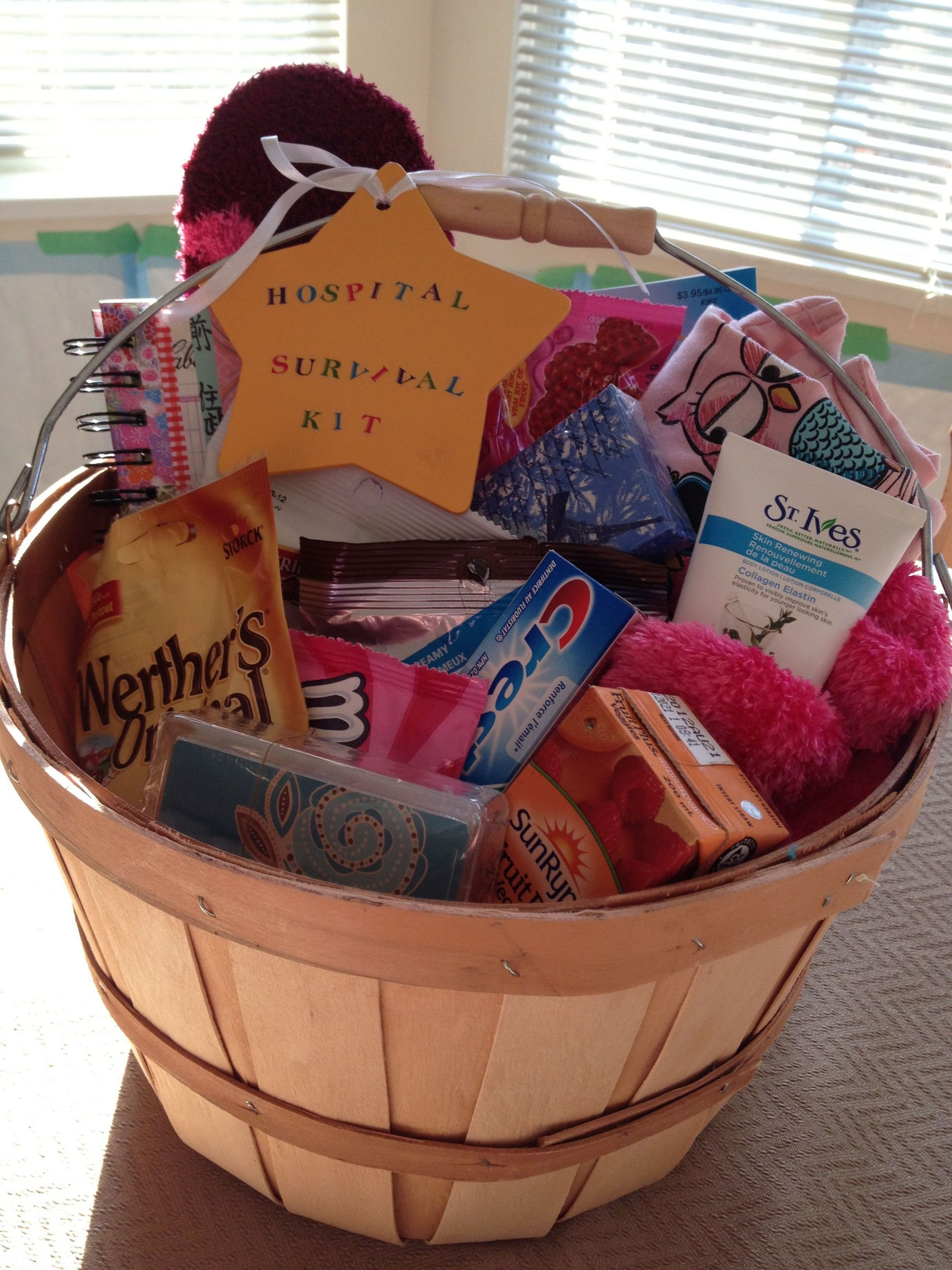 Gift Basket For Child In Hospital  Hospital Survival Kit