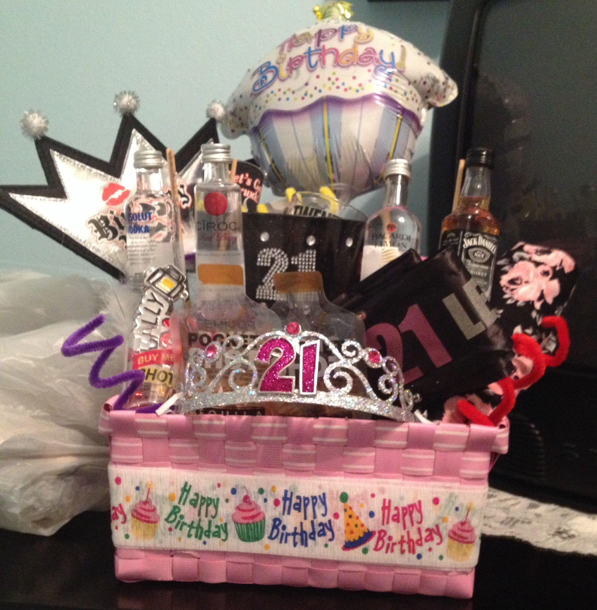 Gift Basket Ideas For Friends Birthday  21st birthday basket for my best friend