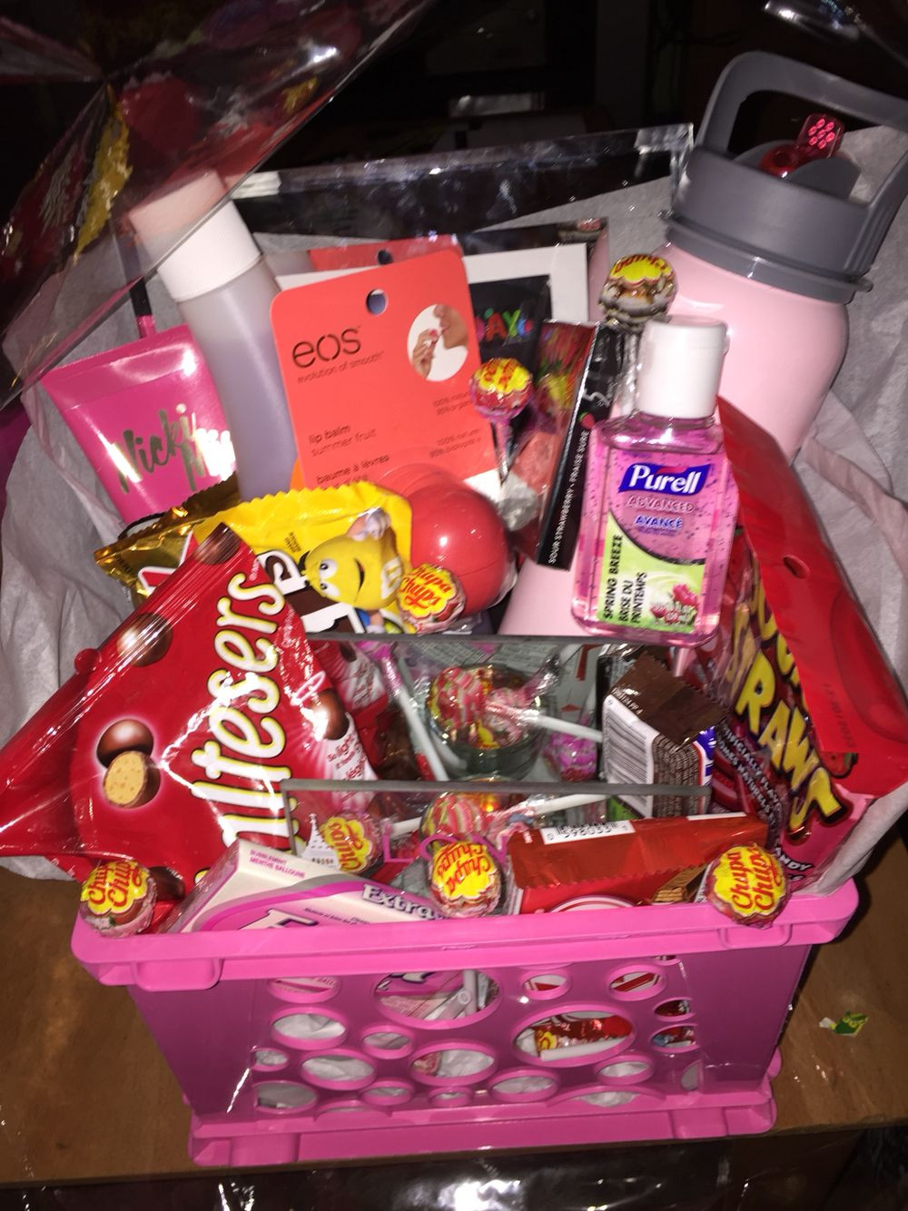 Gift Basket Ideas For Friends Birthday  Made a t basket for my best friend s birthday with