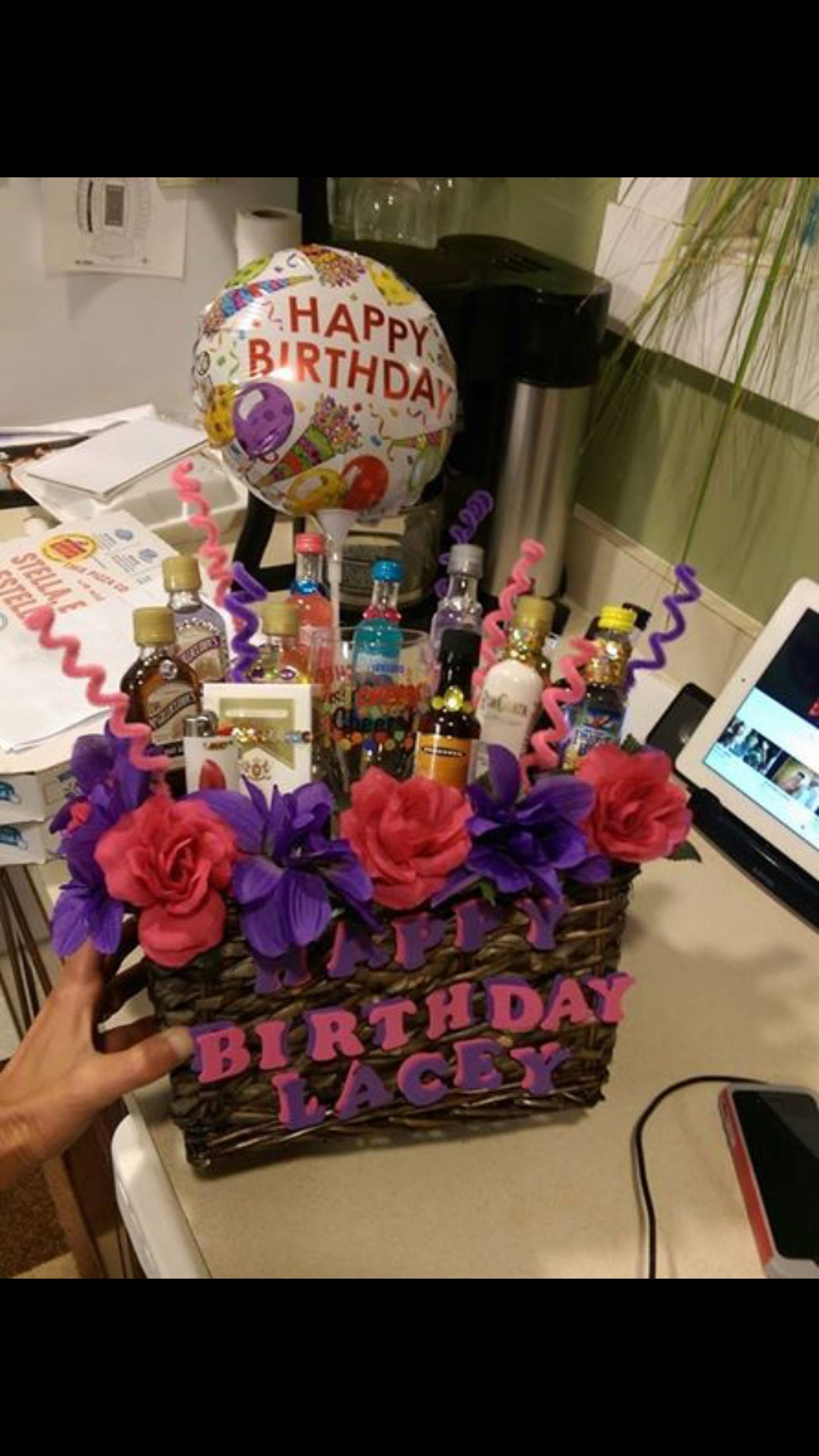 Gift Basket Ideas For Friends Birthday  Birthday basket for my best friend