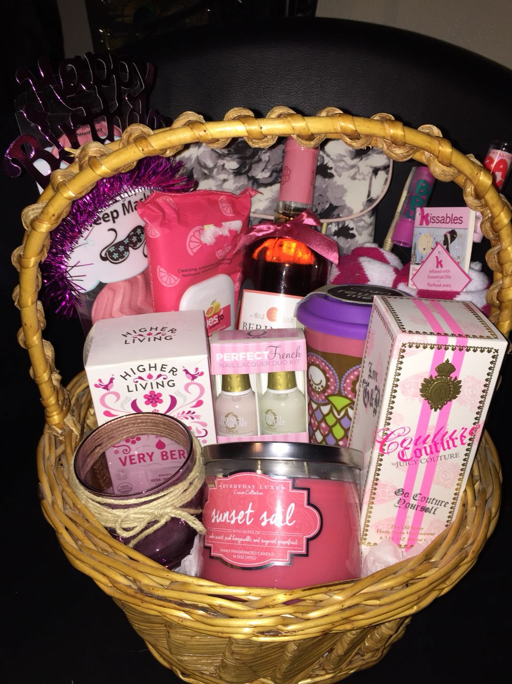 Gift Basket Ideas For Friends Birthday  Gift basket I made for my friend s twenty first birthday