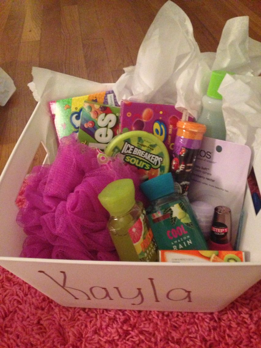 Gift Basket Ideas For Friends Birthday  I ask my best friend what her favorite colors were and I