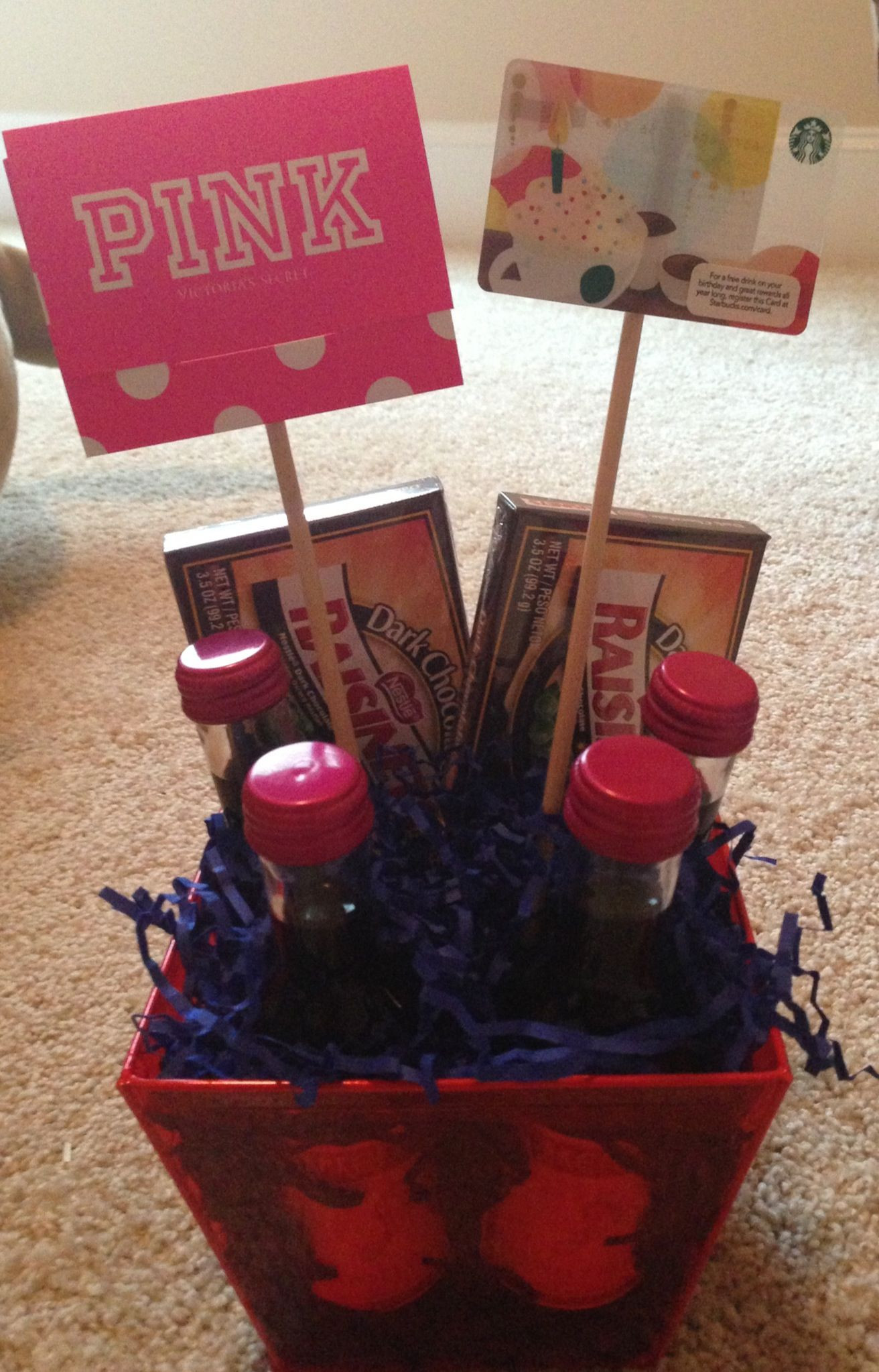 Gift Basket Ideas For Friends Birthday  Birthday t basket for my sweet friend Can customize to