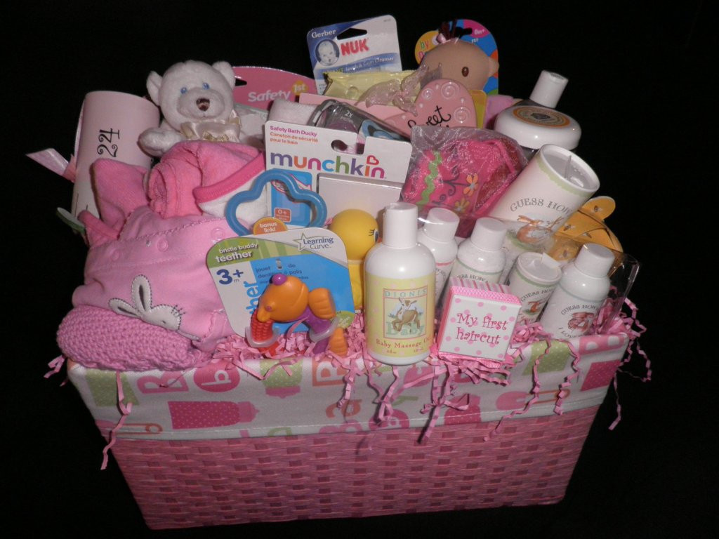 Gift Basket Ideas For Girls  Baby girl t basket ideas Best Gift Baskets