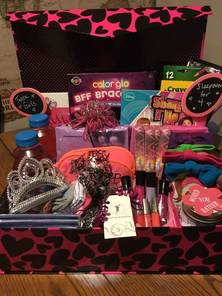 Gift Basket Ideas For Girls  Pin on JLiv Events