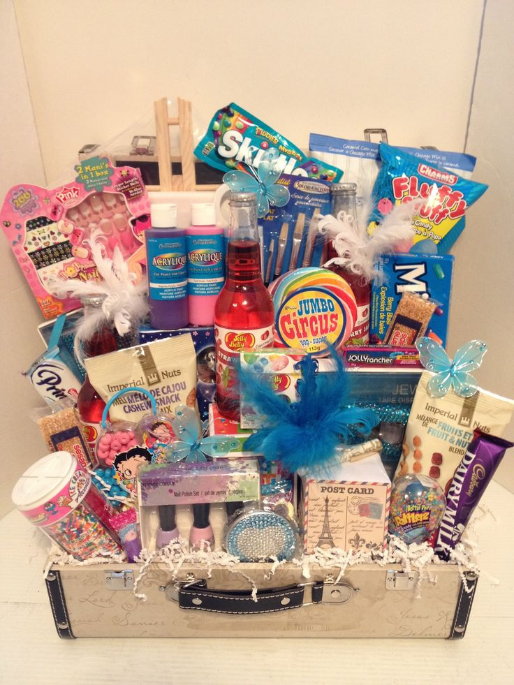 Gift Basket Ideas For Girls  Parish Theme Birthday Girl Gift Basket