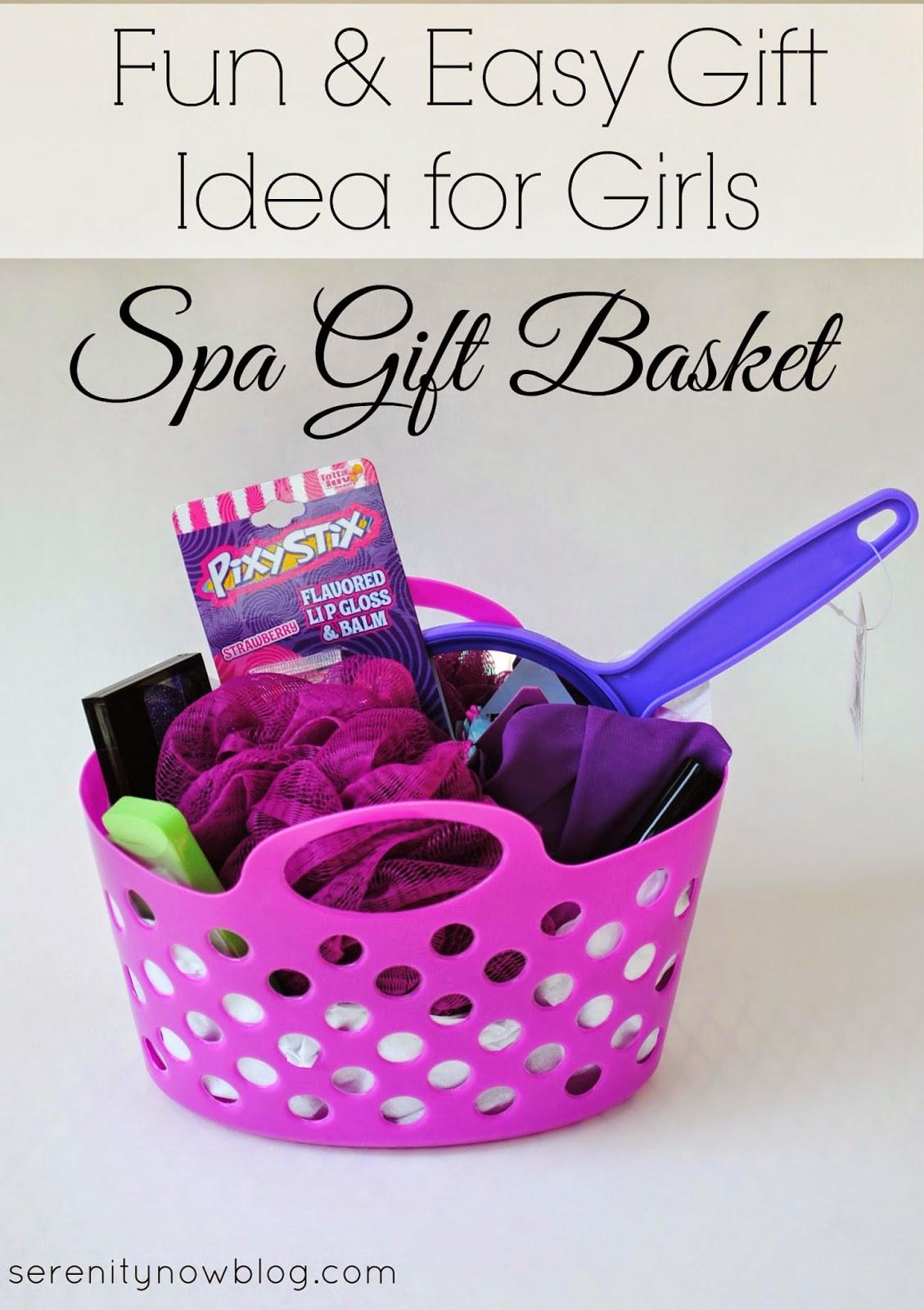 Gift Basket Ideas For Girls  Serenity Now Gift Basket Birthday Present plus Theme