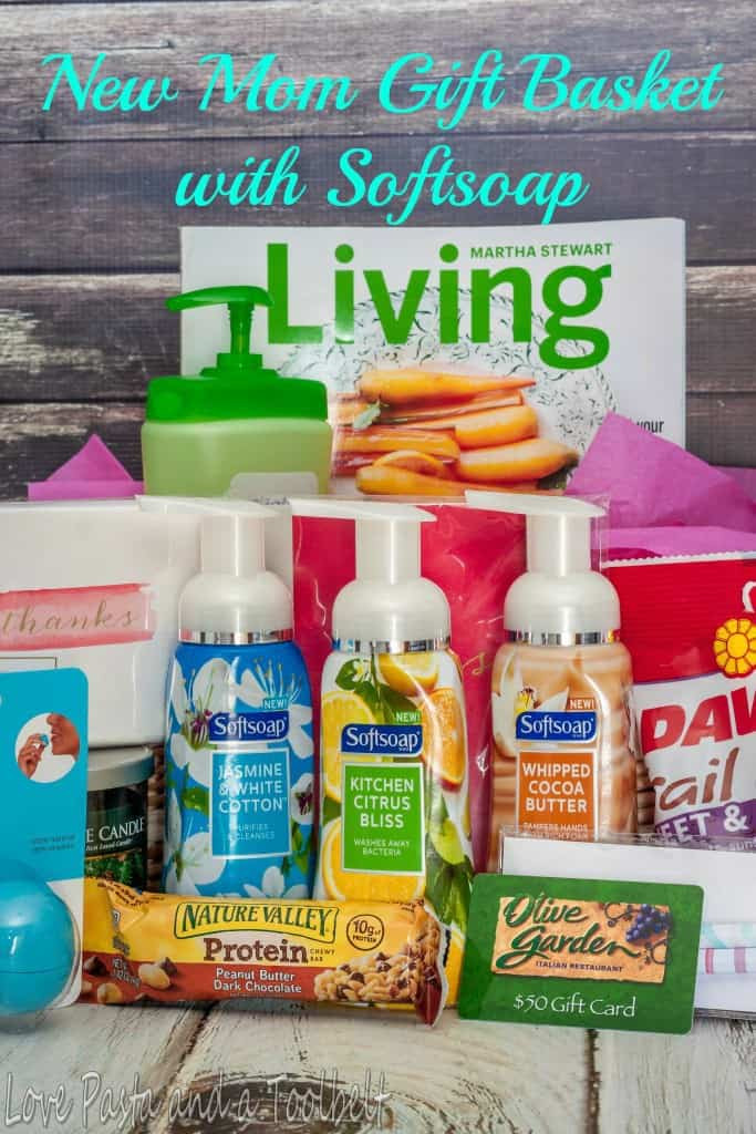 Gift Basket Ideas For New Mom  New Mom Gift Basket with Softsoap Love Pasta and a