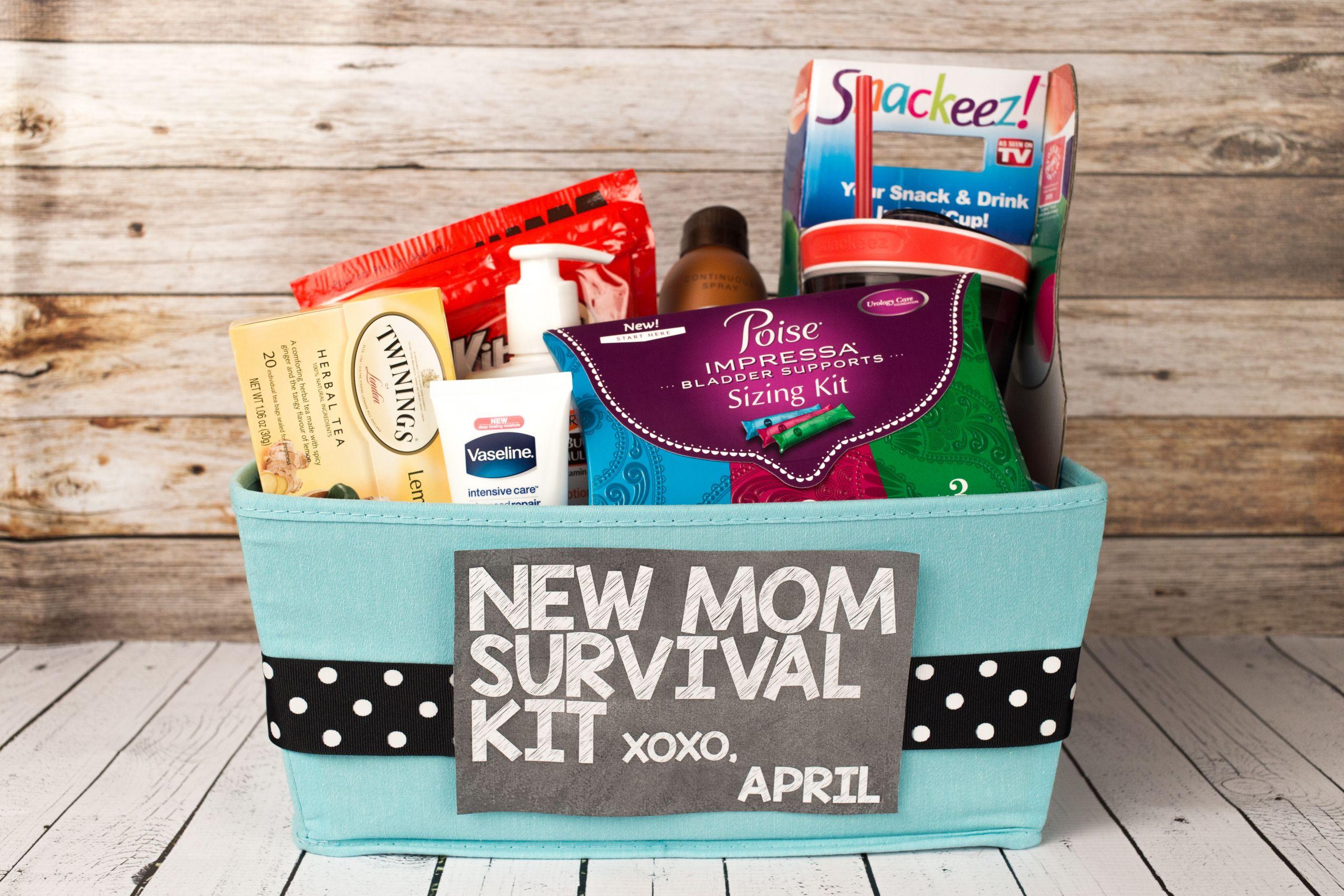 Gift Basket Ideas For New Mom  New Mom Survival Kit