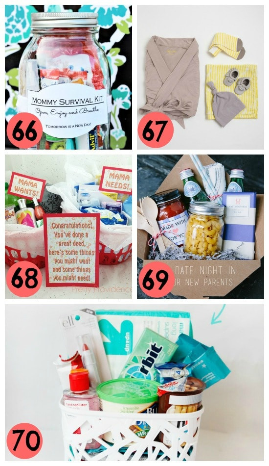 Gift Basket Ideas For Parents  145 Gift Ideas for New Moms
