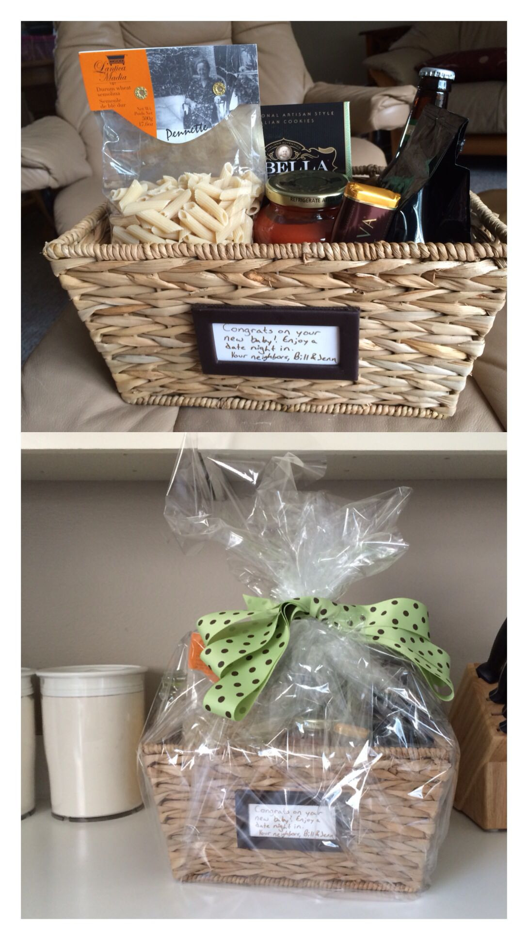 """Gift Basket Ideas For Parents  Homemade """"date night in"""" t basket for new parents Shop"""