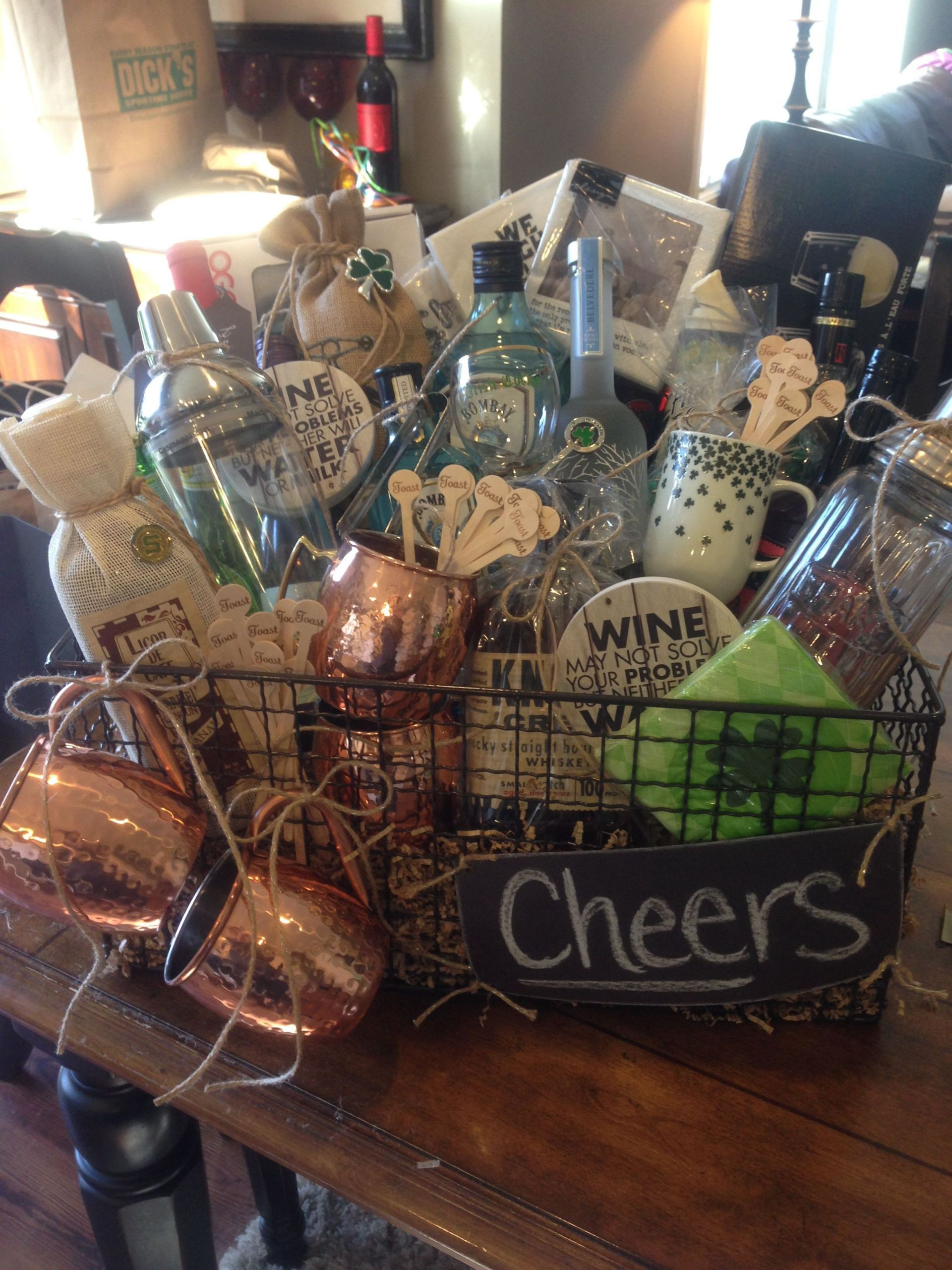 Gift Basket Ideas For Silent Auction Fundraiser  Happy Hour Basket