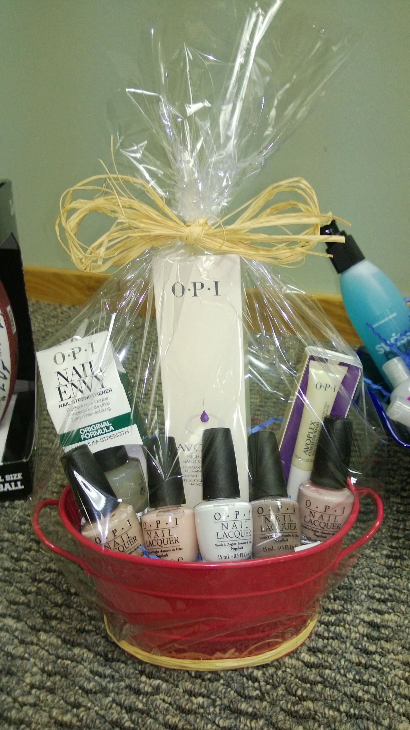 Gift Basket Ideas For Silent Auction Fundraiser  Silent Auction OPI generously donated hundreds in