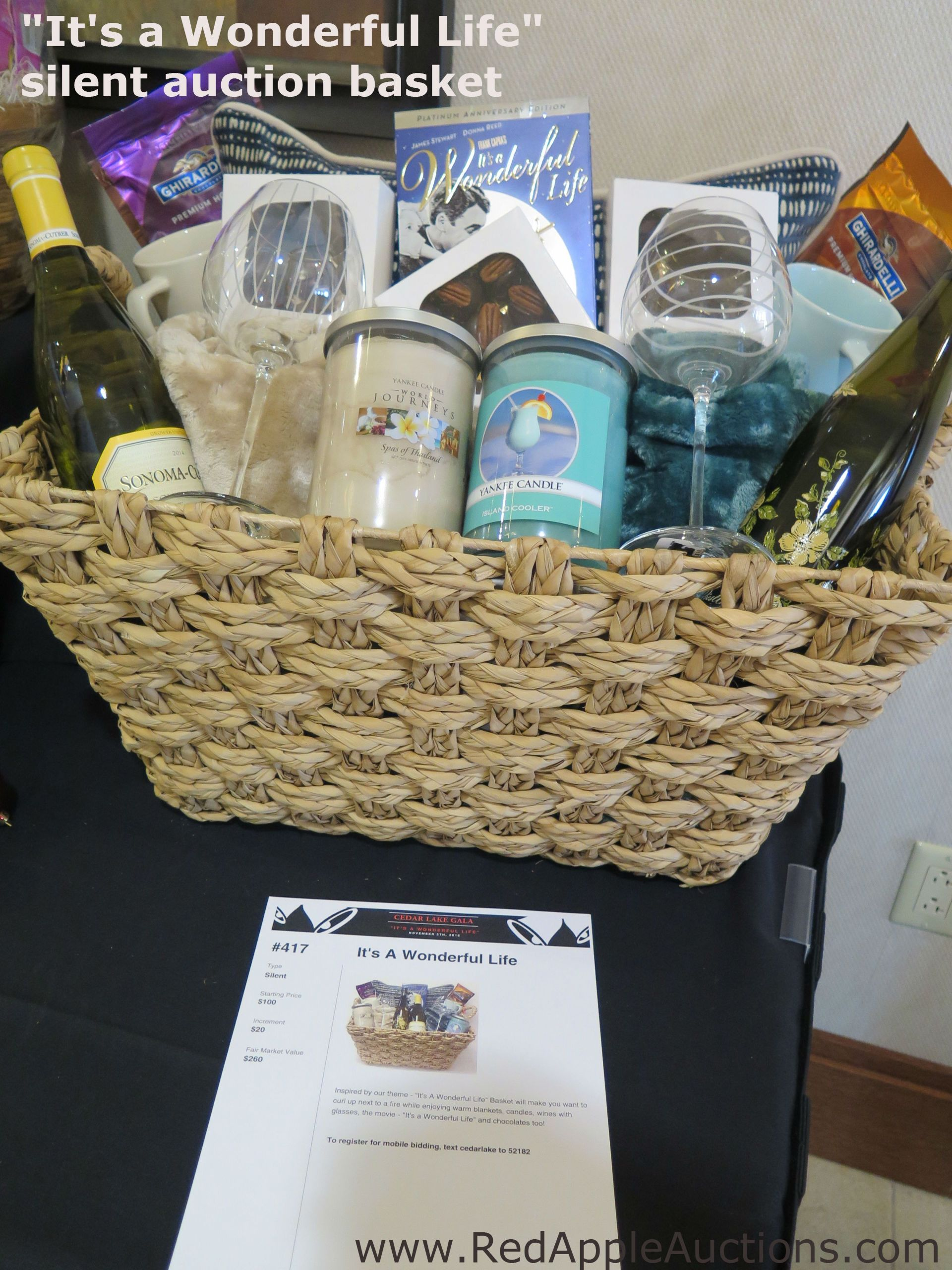 "Gift Basket Ideas For Silent Auction Fundraiser  Themed basket The fundraising auction theme was ""It s a"