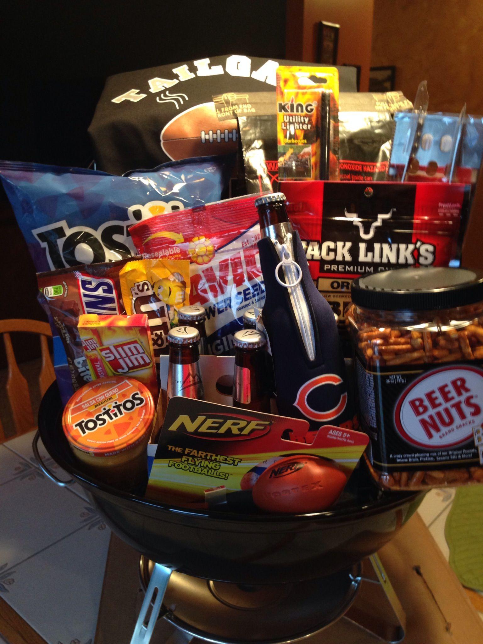 Gift Basket Theme Ideas Fundraiser  Gift basket for fundraiser Tailgate basket